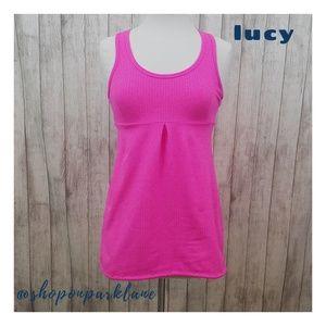 lucy tech Tank Top, Pink, Medium